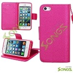 iPhone 5S/5/SE Wallet Case Blue Pink