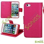 iPhone 5S/5/SE Wallet Case Red
