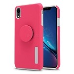 iPhone XR New Pop Holder Impact Protective Case Pink/White