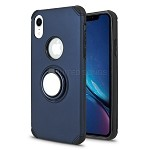 iPhone XR New Hybrid Case With Ring Holder Kickstand Blue