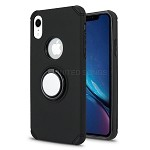 iPhone XR New Hybrid Case With Ring Holder Kickstand Black