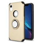 iPhone XR New Hybrid Case With Ring Holder Kickstand Gold