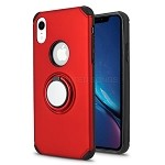 iPhone XR New Hybrid Case With Ring Holder Kickstand Red