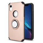 iPhone XR New Hybrid Case With Ring Holder Kickstand Rose Gold