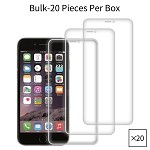 iPhone 8/7/6 Premium Tempered Glass Screen Protector Bulk (20 Pieces Per Box No Package)
