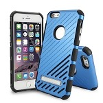 iPhone 6S Plus/6 Plus New Hybrid Case With Kickstand Blue