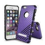iPhone 6S Plus/6 Plus New Hybrid Case With Kickstand Purple