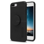 iPhone 7P/8P New Pop Holder Impact Protective Case Black/Black