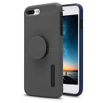 iPhone 7P/8P New Pop Holder Impact Protective Case Grey/Black