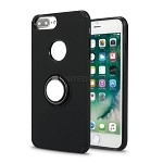 iPhone 8 Plus/7 Plus/6 Plus New Hybrid Case With Ring Holder Kickstand Black