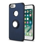 iPhone 8 Plus/7 Plus/6 Plus New Hybrid Case With Ring Holder Kickstand Blue