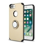 iPhone 8 Plus/7 Plus/6 Plus New Hybrid Case With Ring Holder Kickstand Gold