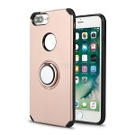 iPhone 8 Plus/7 Plus/6 Plus New Hybrid Case With Ring Holder Kickstand Rose Gold