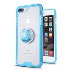 iPhone 7P/8P New Tech Hybrid Case With Liquid Pop Holder Blue