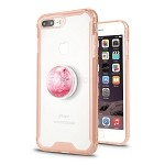 iPhone 7P/8P New Tech Hybrid Case With Liquid Pop Holder Pink