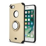 iPhone 8/7 New Hybrid Case With Ring Holder Kickstand Gold