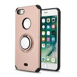 iPhone 8/7 New Hybrid Case With Ring Holder Kickstand Rose Gold