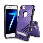 iPhone 8/7 New Hybrid Case With Kickstand Purple
