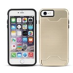 iPhone 8/7 Hybrid Case With Card Slot & Kickstand Gold