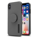 iPhone X/XS New Pop Holder Impact Protective Case Grey/Black