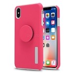 iPhone X/XS New Pop Holder Impact Protective Case Pink/White