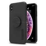 iPhone XSMAX New Pop Holder Impact Protective Case Black/Black