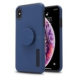 iPhone XSMAX New Pop Holder Impact Protective Case Dark Blue/Black