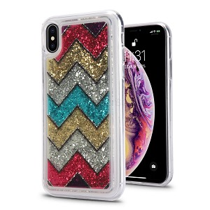 iPhone XS Max New Tech Liquid Glitter Case Design #2