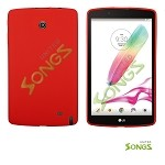 LG G Pad F8.0 V495 TPU(Gel) Case Red