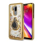 LG G7 ThinQ New Liquid Case With Ring Gold