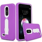 LG K30 Heavy Duty Case With Kickstand Purple/White