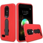 LG K30 Heavy Duty Case With Kickstand Red/Black