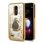 LG K30 New Liquid Case With Ring Gold