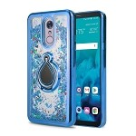 LG G Stylo 4 New Liquid Case With Ring Blue