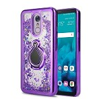 LG Stylo 5 New Liquid Quicksand Case With Ring Purple