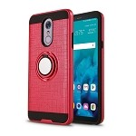 LG G Stylo 4 Hybrid Case With Ring Red