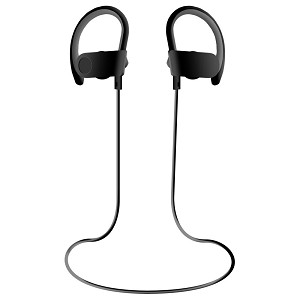 S102 Sweat & Water Resistant Wireless Sport Headset Black