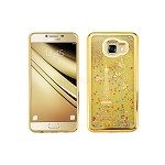 Samsung Galaxy C7 C7000 Liquid Quicksand Case Gold/Gold