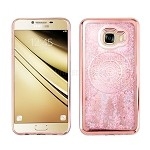 Samsung Galaxy C7 C7000 Liquid Quicksand Case Rose Gold/Light Pink