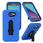 Samsung Galaxy J3 Prime/J3 Emerge/J3 2017 J327 Heavy Duty Case With Kickstand Blue/Black