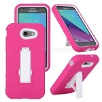 Samsung Galaxy J3 Prime/J3 Emerge/J3 2017 J327 Heavy Duty Case With Kickstand Pink/White