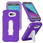 Samsung Galaxy J3 Prime/J3 Emerge/J3 2017 J327 Heavy Duty Case With Kickstand Purple/White