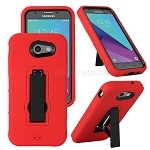 Samsung Galaxy J3 Prime/J3 Emerge/J3 2017 J327 Heavy Duty Case With Kickstand Red/Black