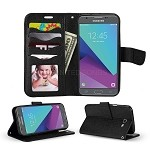 Samsung Galaxy J3 Prime/J3 Emerge/J3 2017 J327 Wallet Case Black