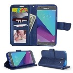 Samsung Galaxy J3 Prime/J3 Emerge/J3 2017 J327 Wallet Case Blue