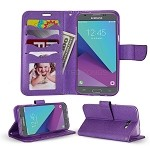 Samsung Galaxy J3 Prime/J3 Emerge/J3 2017 J327 Wallet Case Purple