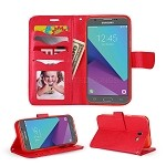 Samsung Galaxy J3 Prime/J3 Emerge/J3 2017 J327 Wallet Case Red