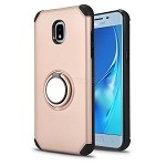 Samsung Galaxy J3 2018 J337/J3 Achieve/J3 Star New Hybrid Case With Ring Holder Kickstand Rose Gold