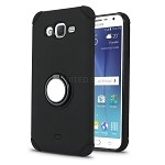 Samsung Galaxy J7/J7 Neo New Hybrid Case With Ring Holder Kickstand Black