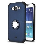 Samsung Galaxy J7/J7 Neo New Hybrid Case With Ring Holder Kickstand Blue